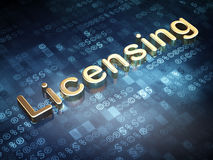 Law concept: Golden Licensing on digital background Royalty Free Stock Photography