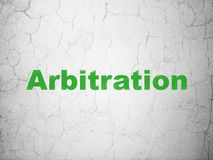 Law concept: Arbitration on wall background Stock Photo
