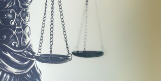 Law concept image, scales of justice