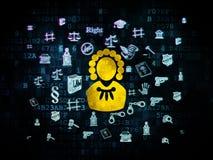 Law concept: Judge on Digital background Stock Image