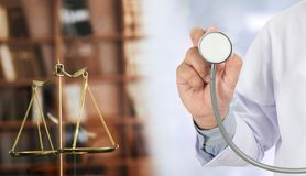law concept Judge law medical Pharmacy compliance Health care bu Stock Image
