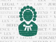 Law concept: Judge on wall background Stock Photos