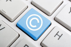 Law concept key on keyboard Stock Image