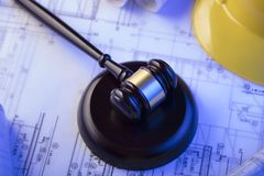Law concept. Labor and construction law. Place for text.