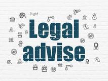 Law concept: Legal Advise on wall background royalty free stock photography