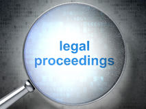 Law concept: Legal Proceedings with optical glass Stock Photography