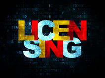 Law concept: Licensing on Digital background Royalty Free Stock Image