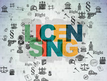 Law concept: Licensing on Digital Paper background Stock Photography