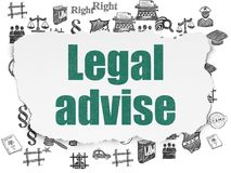 Law concept: Legal Advise on Torn Paper background Royalty Free Stock Photo