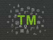 Law concept: Trademark on wall background Royalty Free Stock Photography
