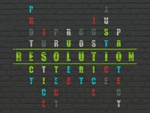 Law concept: Resolution in Crossword Puzzle Stock Photo