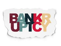 Law concept: Bankruptcy on Torn Paper background. Law concept: Painted multicolor text Bankruptcy on Torn Paper background Royalty Free Stock Images
