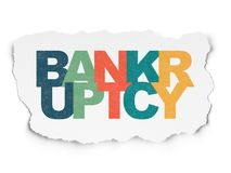 Law concept: Bankruptcy on Torn Paper background Royalty Free Stock Image