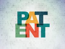 Law concept: Patent on Digital Data Paper background Royalty Free Stock Images