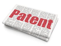 Law concept: Patent on Newspaper background Stock Photos