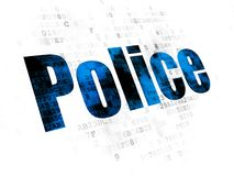 Law concept: Police on Digital background Royalty Free Stock Photos