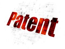 Law concept: Patent on Digital background Royalty Free Stock Image