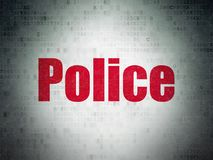 Law concept: Police on Digital Data Paper background Royalty Free Stock Photos