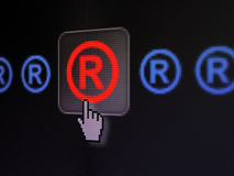 Law concept: Registered on digital computer screen Royalty Free Stock Photo