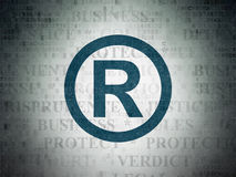 Law concept: Registered on Digital Data Paper background Royalty Free Stock Images