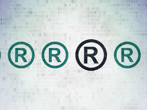 Law concept: registered icon on Digital Paper Royalty Free Stock Image