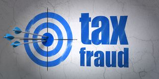 Law concept: target and Tax Fraud on wall background Royalty Free Stock Photography