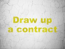 Law concept: Draw up A contract on wall background Royalty Free Stock Images