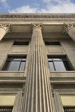 Law court like Romanesque building. With ornamental pillars Stock Image