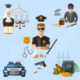 Law crime and punishment justice system Stock Photos