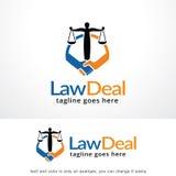 Law Deal Logo Template Design Vector, Emblem, Design Concept, Creative Symbol, Icon Royalty Free Stock Photos