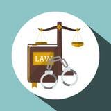 Law design. Justice icon. Flat illustration,  graphic Stock Photo