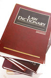 Law dictionary Royalty Free Stock Photo