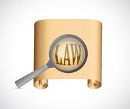 Law documents concept illustration design Royalty Free Stock Images