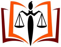Law education logo Stock Photos