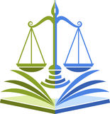 Law education logo Stock Photography