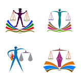 Law education logo Stock Images