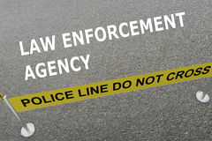 Law Enforcement Agency concept Royalty Free Stock Photography