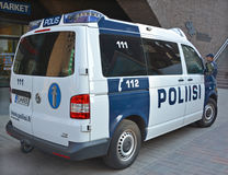 Law enforcement in Finland car Royalty Free Stock Images