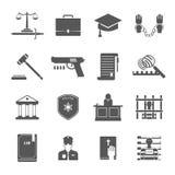 Law Enforcement Icons Set Stock Photo