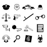 Law enforcement icons. A vector illustration of law enforcement icons Royalty Free Stock Photos