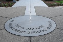 Law Enforcement Memorial on the State House Grounds in Columbia, South Carolina.  Stock Photography