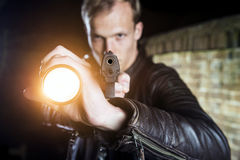 Law Enforcement officer making an arrest Royalty Free Stock Photos
