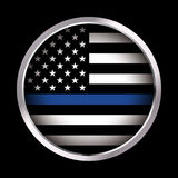 Police Law Enforcement Support Flag Background Stock Photo ...