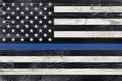 Law Enforcement Support Flag stock image