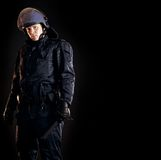 Law Enforcer Ready for Crowd Control Royalty Free Stock Photo