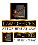 Law Firm Design With Gavel Stock Photo