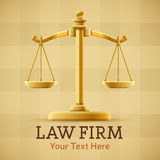 Law Firm Justice Scale. Background concept with space for text Stock Images