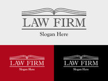 Law Firm, Law Office, Lawyer services, Open Book Vector logo template Stock Photos