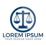 Law Firm or law service logo design. Stock Images