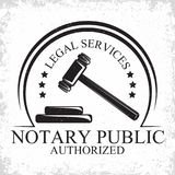 Law firm logo. Design, emblem of lawyer agency or notary, vintage court logo or typography emblem, Vector Royalty Free Stock Photos